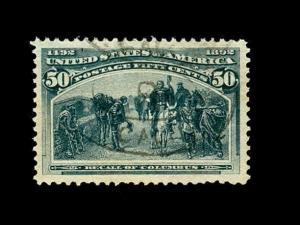 momen: US Stamps #240 Used XF Jumbo PF & PSE Certs