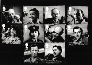 2014 British Incredible Lives (very fine used) stamp set