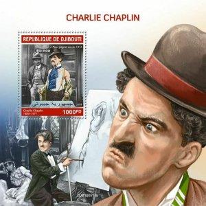 Z08 IMPERF DJB190514b DJIBOUTI 2019 Charlie Chaplin MNH ** Postfrisch