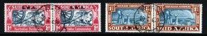 SOUTH WEST AFRICA 1938 Voortrekker Commemoration Pairs Set SG 109 & SG 110 VFU