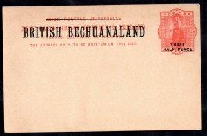 British Bechuanaland H&G 8 QV Postal Stationery Card unused WS18941