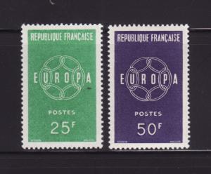 France 929-930 Set MH Europa (A)