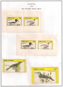 SCOTLAND - STAFFA - 1982 - Birds #4 - Perf, Imp 2v, Souv, D/L Sheets - MLH