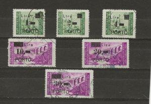 Yugoslavia Istria & Slovene Coast J8-13 used 409368