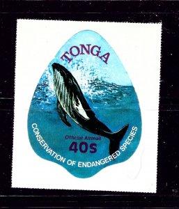 Tonga CO126 MNH 1977 Whale  Self-Adhesive