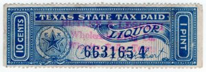 (I.B) US Revenue : Liquor Tax 10c (Texas)