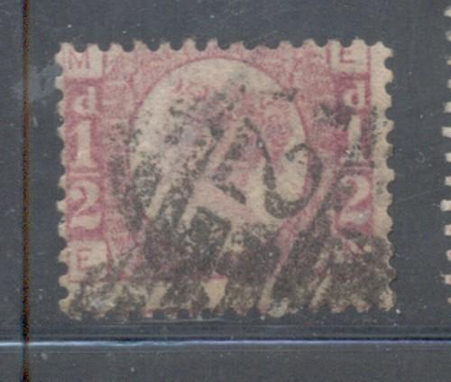 Great Britain Sc 58 1890 1/2d rose Victoria stamp used