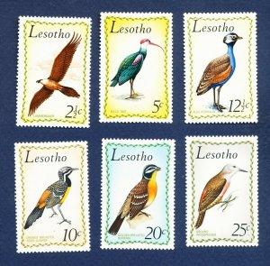 LESOTHO - Scott 105 // 111 - FVF MNH - BIRDS - 1971