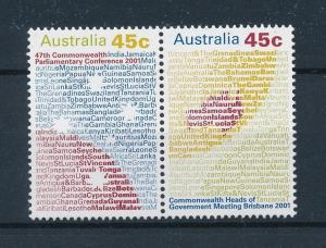 [73851] Australia 2001 Commonwealth Conference Pair  MNH