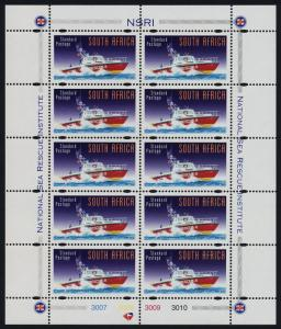 South Africa 1021 sheet MNH National Sea Rescue, Boat
