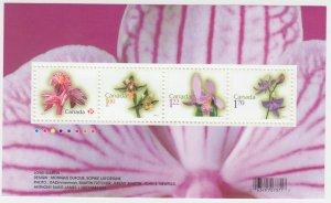 Canada - #2356 Flowers Souvenir Sheet 2010 Rates - MNH