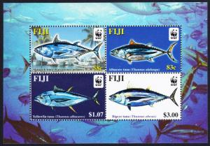 Fiji WWF Pacific Tunas MS SG#MS1217 MI#Block 45 I SC#1006