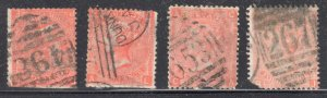 Great Brittain #69 Used  -- WMK#23 ---  4 stamps ---  C$2,000,00 -  Special canc
