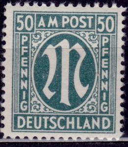 Germany, 1945-46, A.M.G. Issue, 50pf, sc#3N17, MH