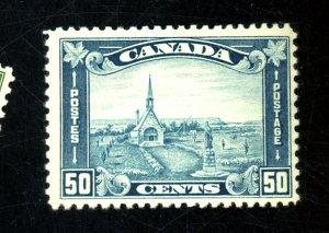 CANADA #176 MINT FVF OG LH SM T HIN Cat $175