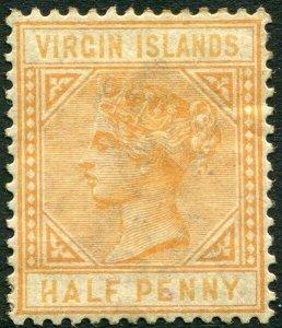 BRITISH VIRGIN ISLANDS-1883-84 ½d Yellow-Buff Sg 26 toned gum AMM V33645
