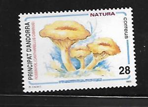 SPANISH ANDORRA 222 MNH CANTHARELIUS CIBARIUS
