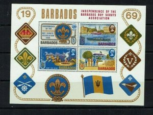 Barbados: 1969, Independence of the Barbados Boy Scouts Assoc. M/s, MNH