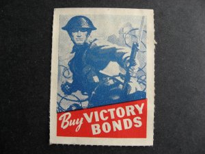 Canada WWII label Buy Victory Bonds no gum CS CC3385 Type 1