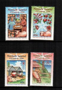 Norfolk islands  610 - 613  MNH cat $4.00