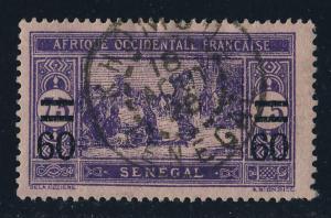 SÉNÉGAL - 1928 - CAD  KHOMBOL / SENEGAL  sur Yvert 87 60c/75c Marché Indigène