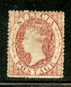 Saint Lucia # 1, Used. CV $ 75.00