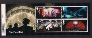 MS3855 2016 Pink Floyd Barcode miniature sheet UNMOUNTED MINT/MNH