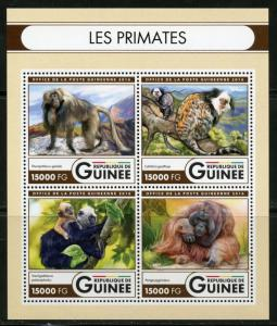 GUINEA 2016 THE PRIMATES  SHEET MINT NH