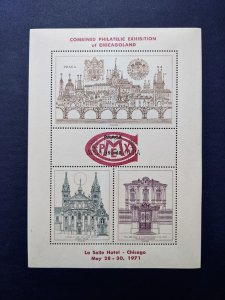 Combined Phila. Expo of Chicagoland 1971, Superb NH, CV $19.95