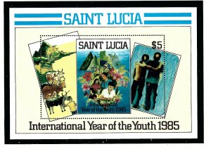 St Lucia 795 MNH 1985 Intl Youth Year  S/S (KA)