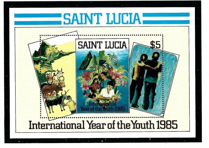 St Lucia 795 MNH 1985 Intl Youth Year  S/S (KA)