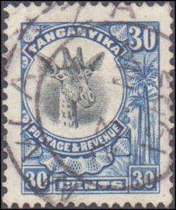 Tanganyika #18, Incomplete Set, 1922-1925, Animals, Used