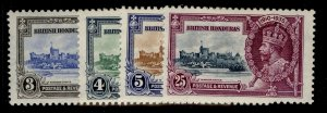 BRITISH HONDURAS GV SG143-146, SILVER JUBILEE set, M MINT. Cat £21.