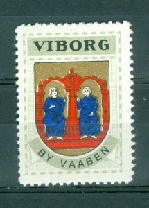 Denmark. Poster Stamp 1940/42. Mnh. Town: Viborg. Coats Of Arms: 2 Monk,Chair