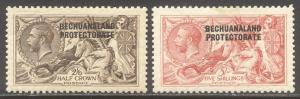 BECHUANALAND PROT #92-93 Mint - 1914-15 Seahorse Set