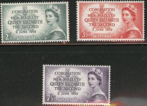 AUSTRALIA Scott 259-261 MH* QE2 set