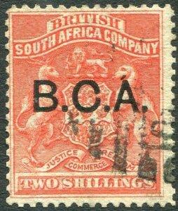 BRITISH CENTRAL AFRICA-1891-95 2/- Vermilion Sg 8 GOOD USED V35987