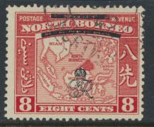 North Borneo  SG 340 SC# 228 Used    OPT GR Crown - See scan
