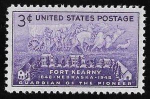 970 3 cents Fort Kearny, Neb. Centennial Stamp mint OG NH EGRADED SUPERB 100 XXF