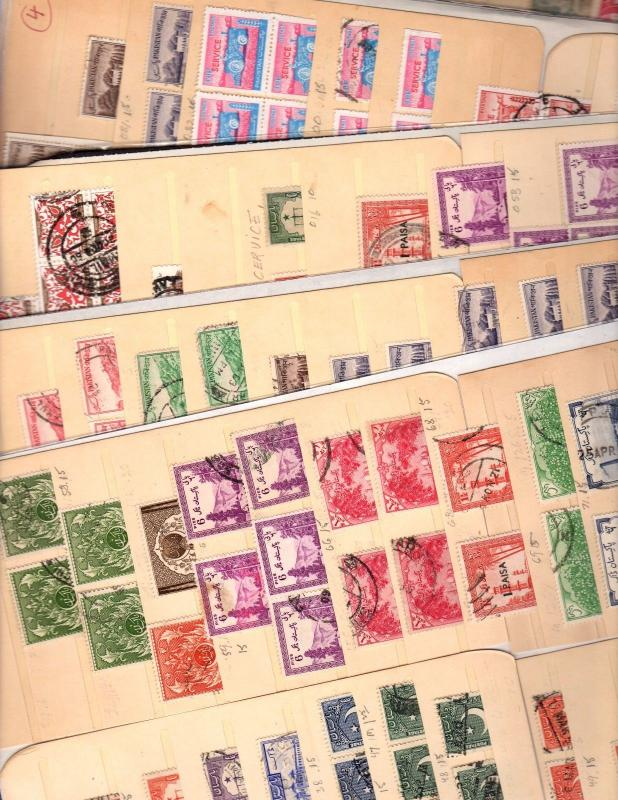 PAKISTAN  STAMPS on 6 DEALER STOCK CARDS 4//811 & BoB 151 1015