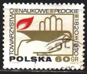 Poland. 1970. 2009. 150th anniversary of the P?ock Scientific Society. USED.