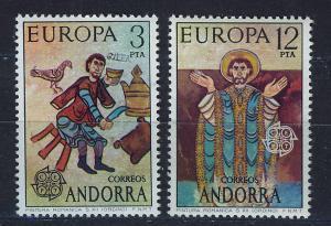 ANDORRA SPANISH 1975 MNH SC.87/88 Europa CEPT