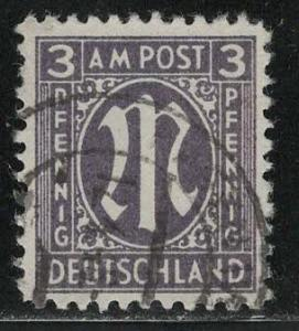 Germany AM Post Scott # 3N2, used