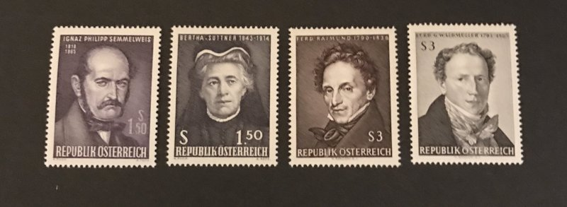 Austria 1965 #746-49, MNH, SCV $1.90