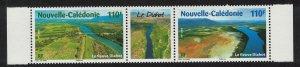 New Caledonia Fields River Bridge Delta Nature Strip of 2v+label SG#1456-1457