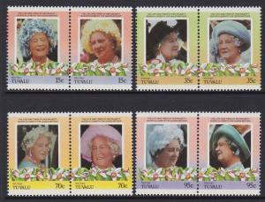 Tuvalu Niutao 1985-86 Queen Mother 37-40 MNH