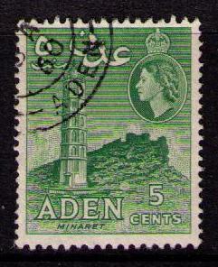 ADEN Sc# 48b USED FVF Minaret 5c