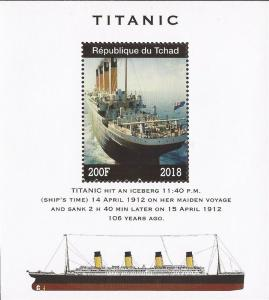 Chad - 2018 Titanic - Stamp Souvenir Sheet - 3B-626