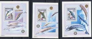 2002 Scouts Rotary Lions Guinea whales set of 3 SS