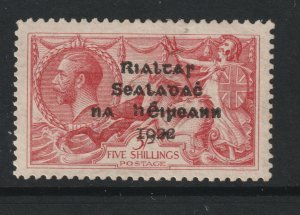 Ireland a LHM 2/6 GB KGV with 1922 overprint